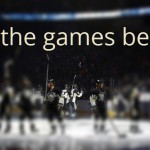 "NHL börjar med text ""let the games begin""."